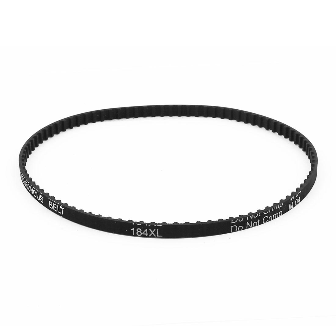 184XL 025 92 Teeth 6.4mm Width 467.36mm Pitch Length Timing Belt Black