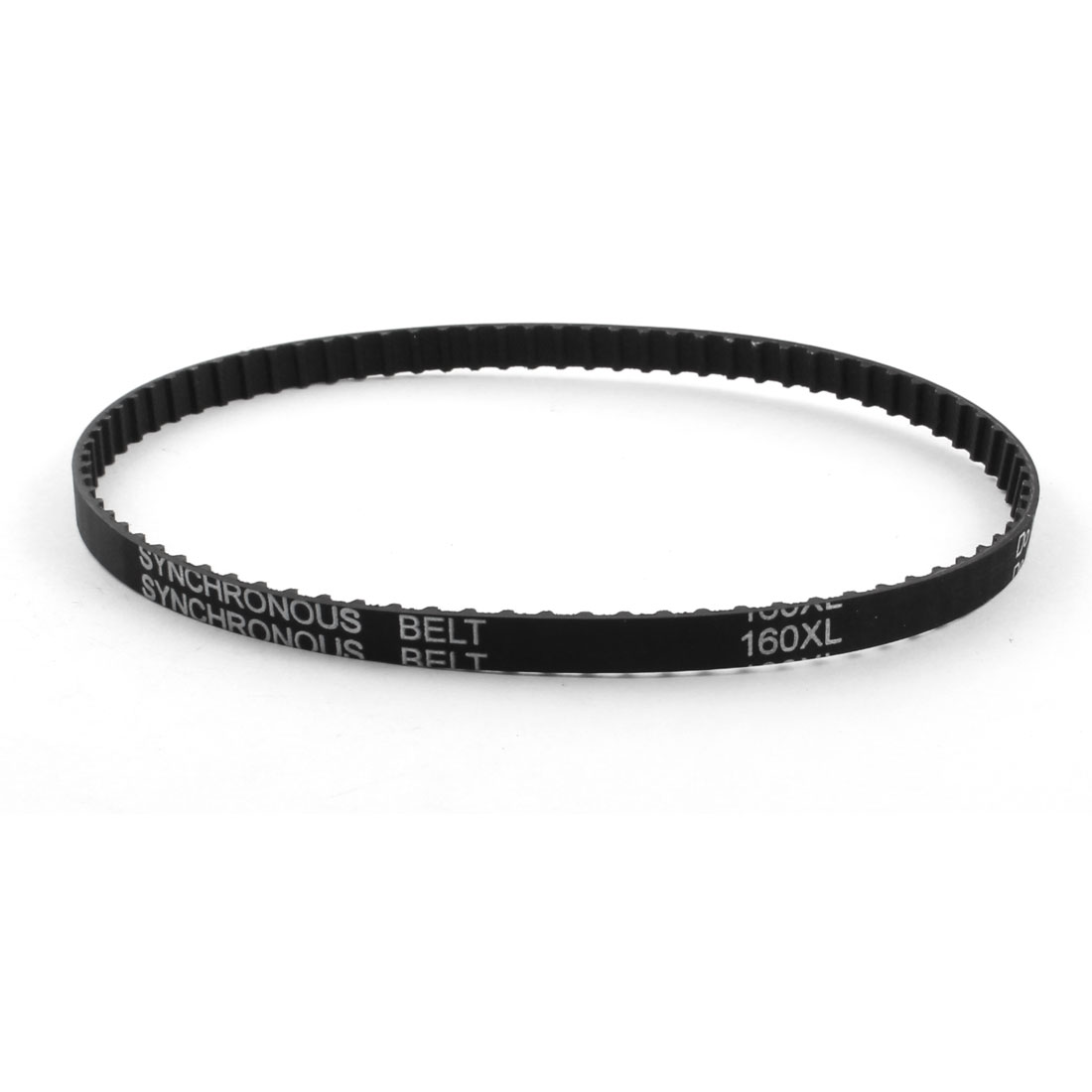 "XL-160 16"" Girth 5.08mm Pitch 80-Teeth 7.9mm Width Black Rubber Single Side Synchronous Timing Belt"