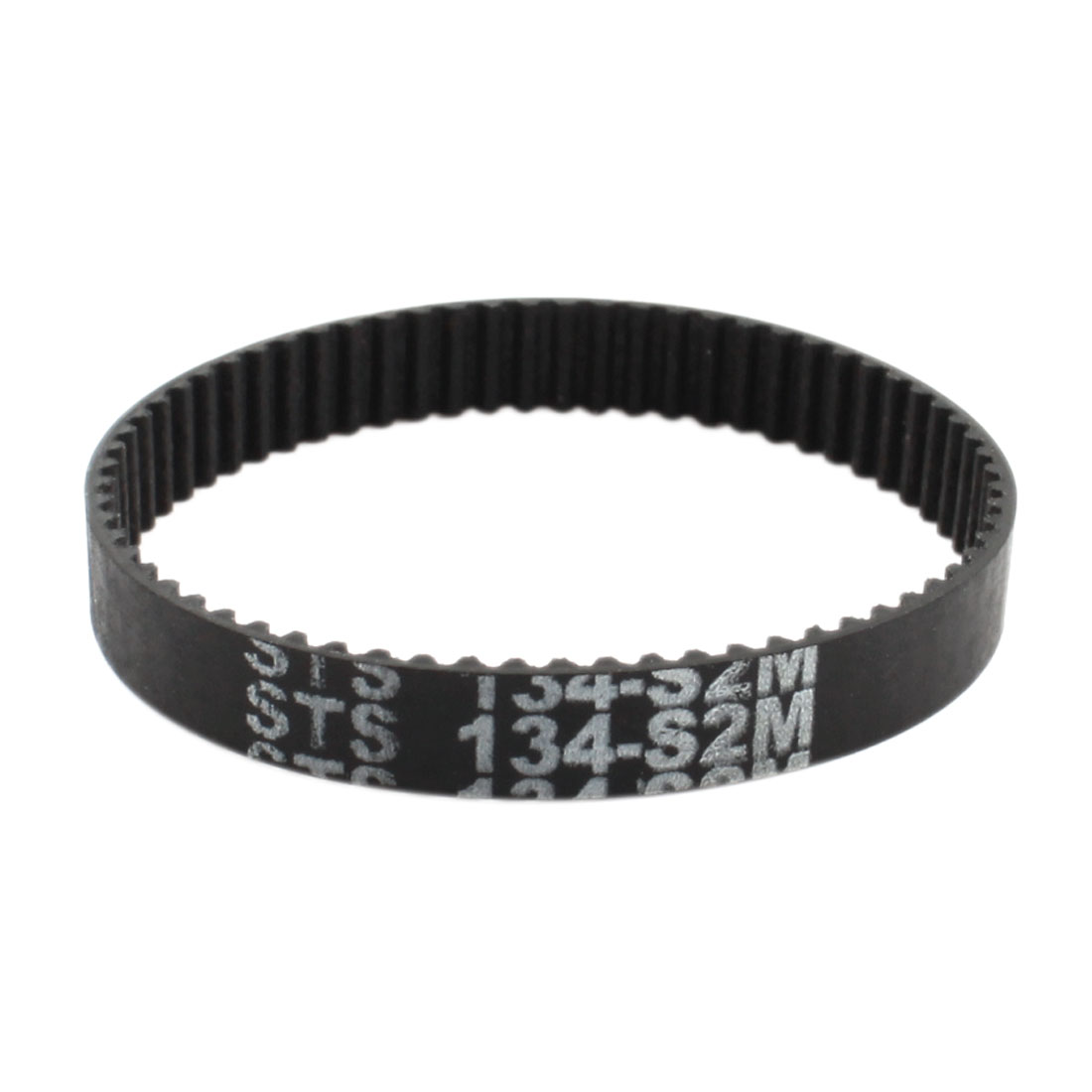 S2M-134 2mm Pitch 67-Teeth 6mm Width Black Rubber Single Side Synchronous Timing Belt