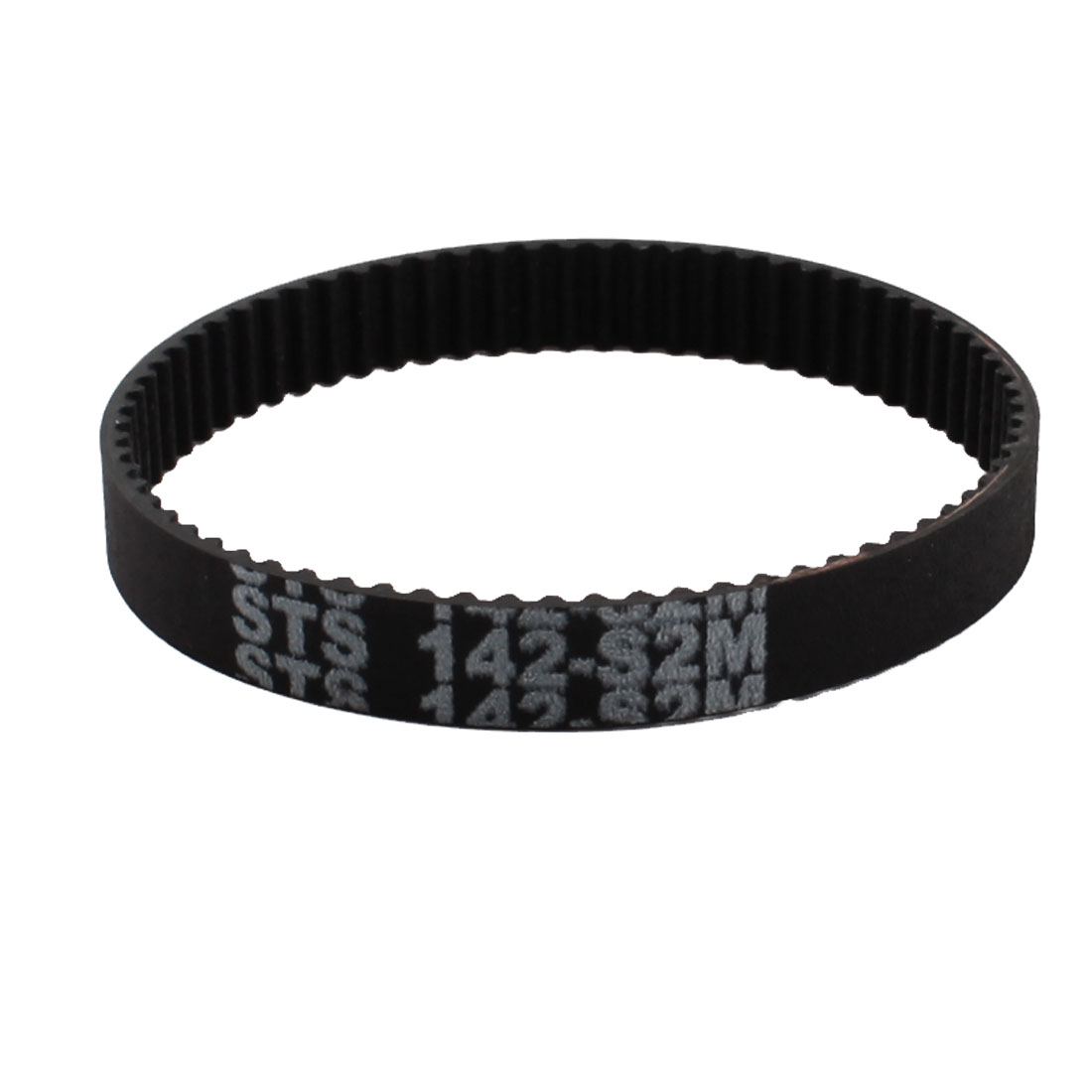 S2M-142 2mm Pitch 71-Teeth 6mm Width Black Rubber Single Side Synchronous Timing Belt