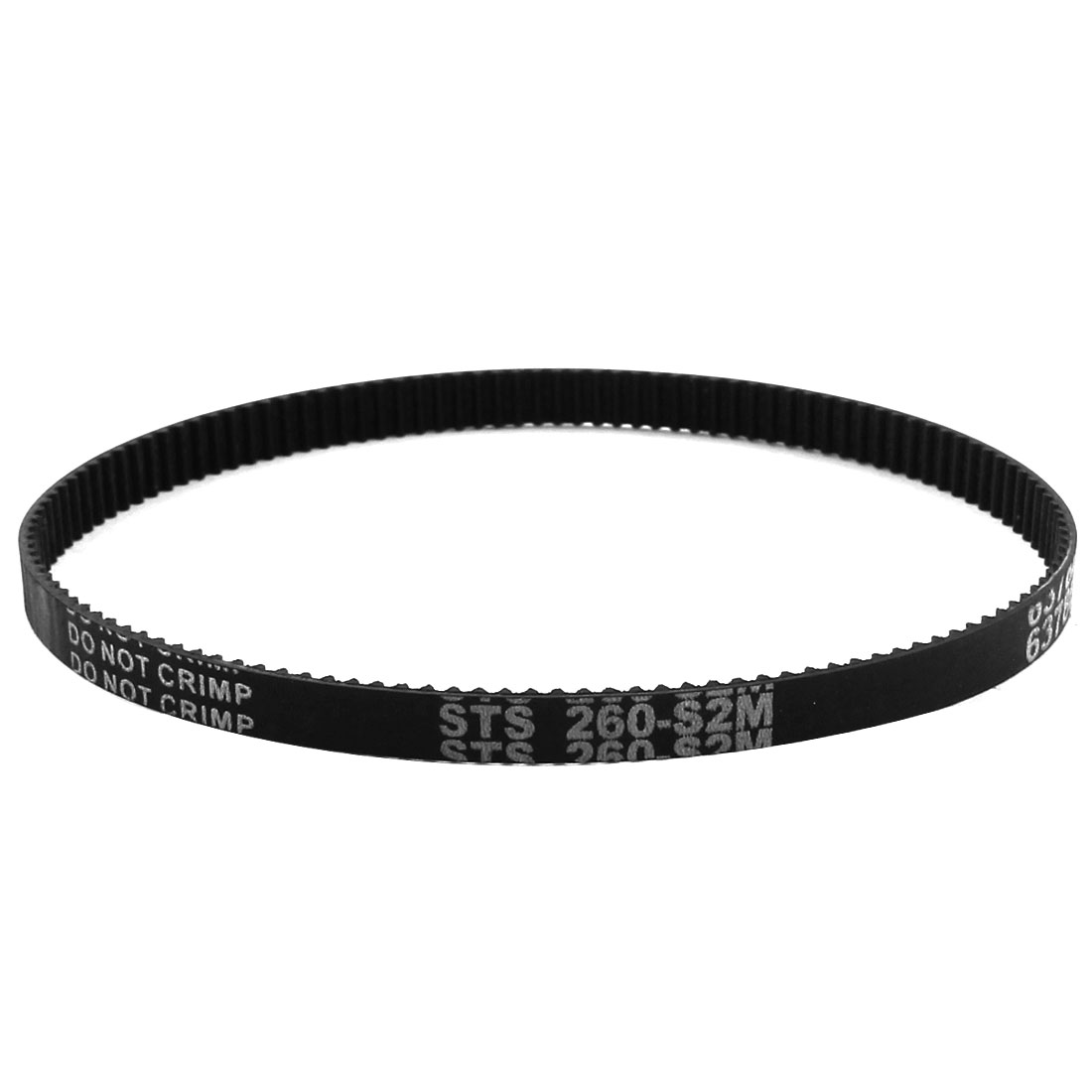 S2M-260 2mm Pitch 130-Teeth 6mm Width Black Rubber Single Side Synchronous Timing Belt
