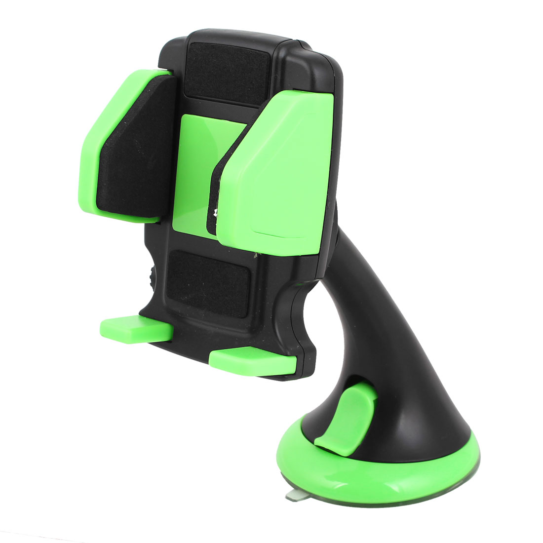 Black Green Suction Cup Adjustable Mobile Phone Holder for Auto Car