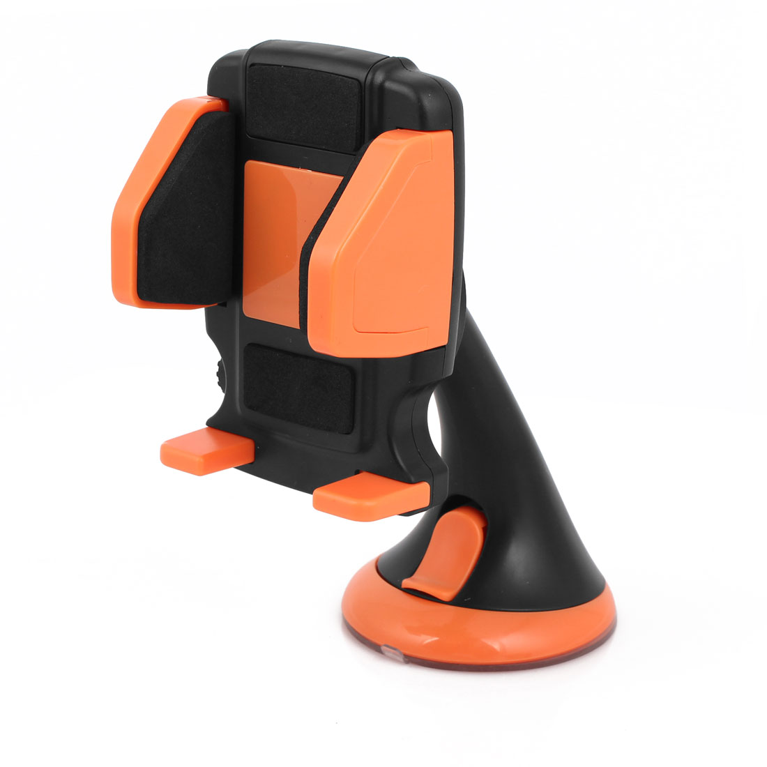 Car Windshield Dashboard Black Orange 360 Degree Rotating Phone GPS Holder Stand