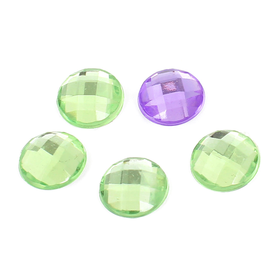 Colorful Bling Crystal Circle Self Adhesive Home Button Stickers 5pcs for Phone