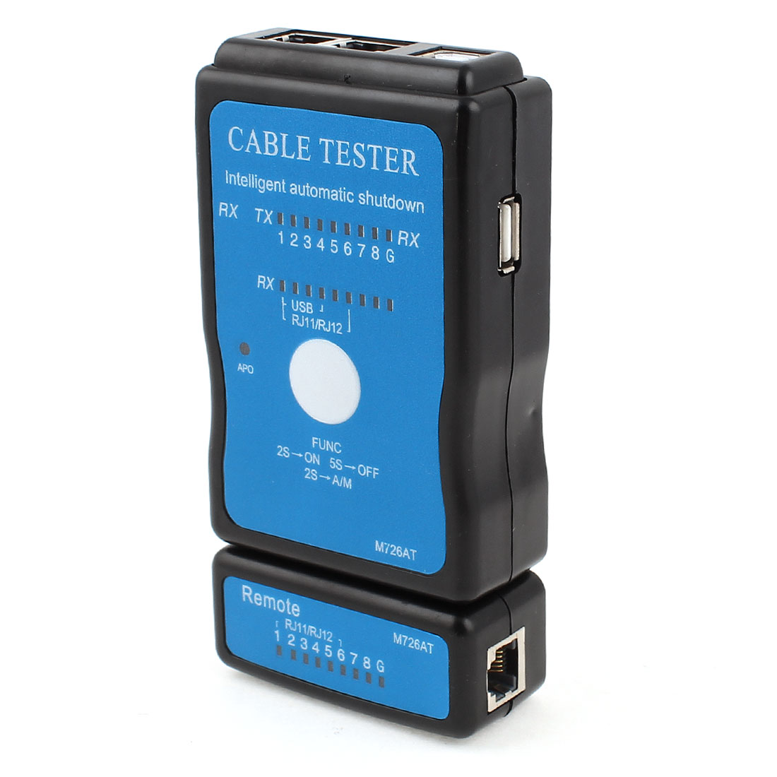 Plastic 9V Battery Multi Purpose RJ12 RJ11 LAN Network Modular Cable Tester