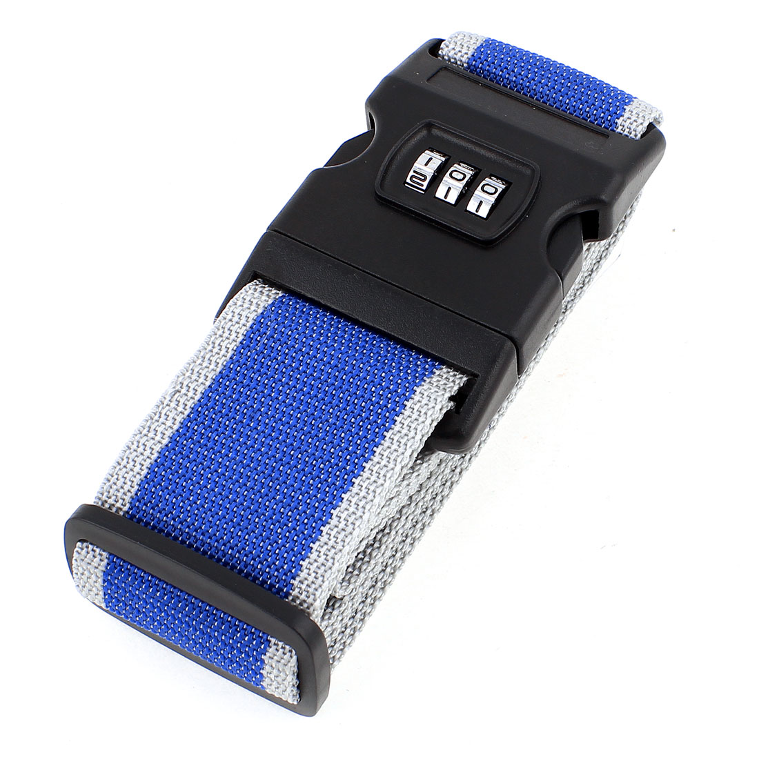 Release Buckle 3 Digits Password Combination Luggage Strap Blue Gray 2M Long