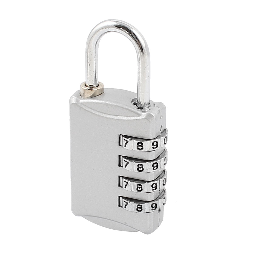 Gray 4 Digital Security Resettable Luggage Combination Password Padlock Lock