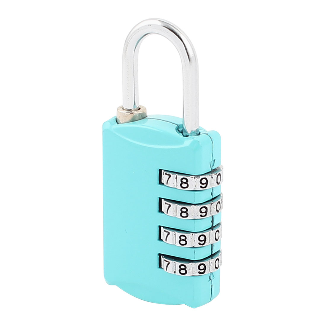 Blue 4 Digital Security Resettable Luggage Combination Password Padlock Lock