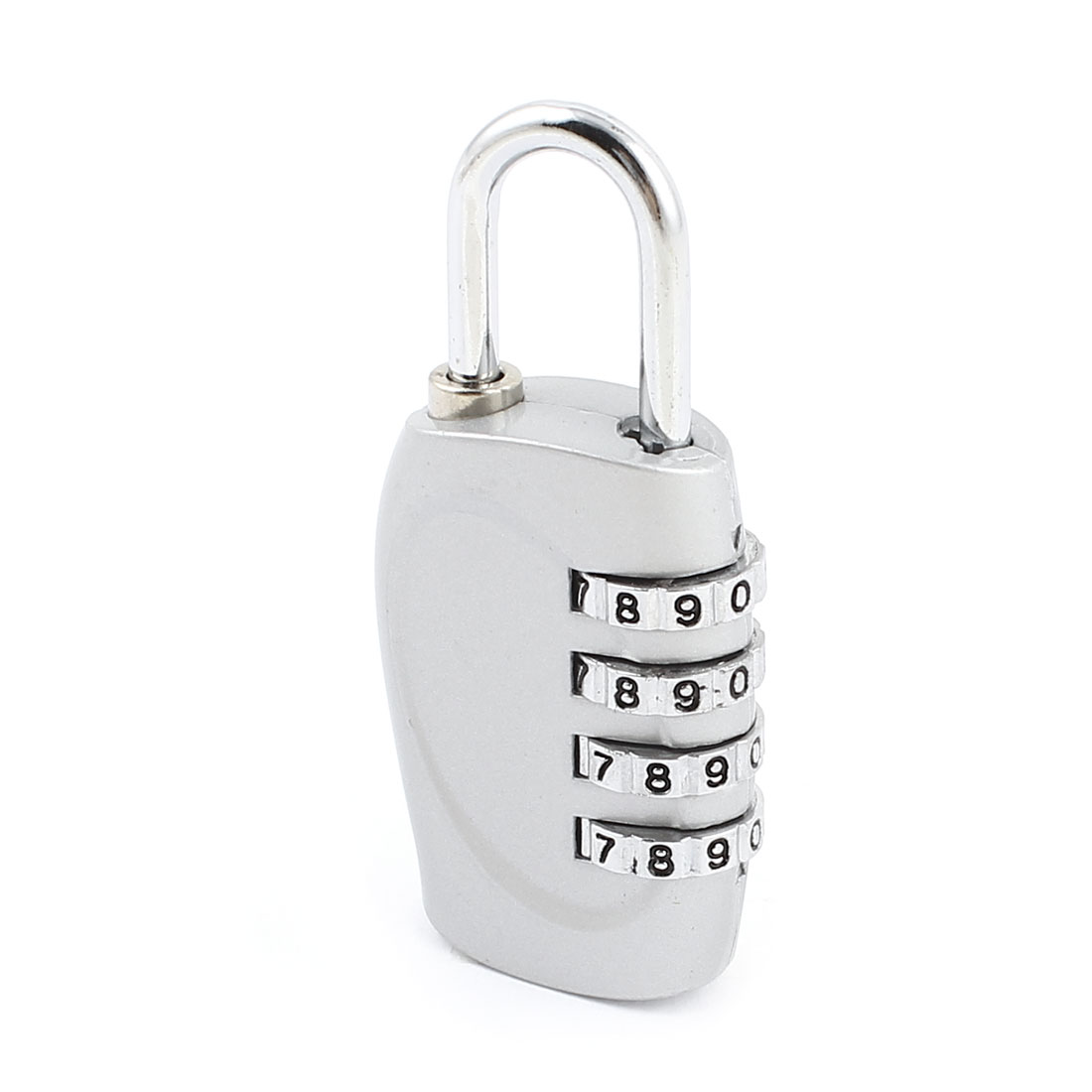 Backpack 4 Digits Combination Dial Lock Password Safety Padlock Silver Tone