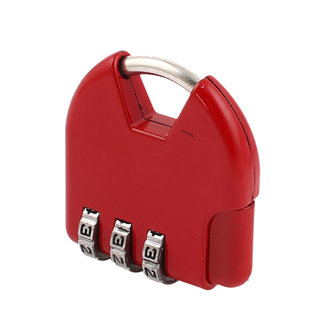Red 3 Dial Digitals Password Combination Suitcase Safety Padlock Lock