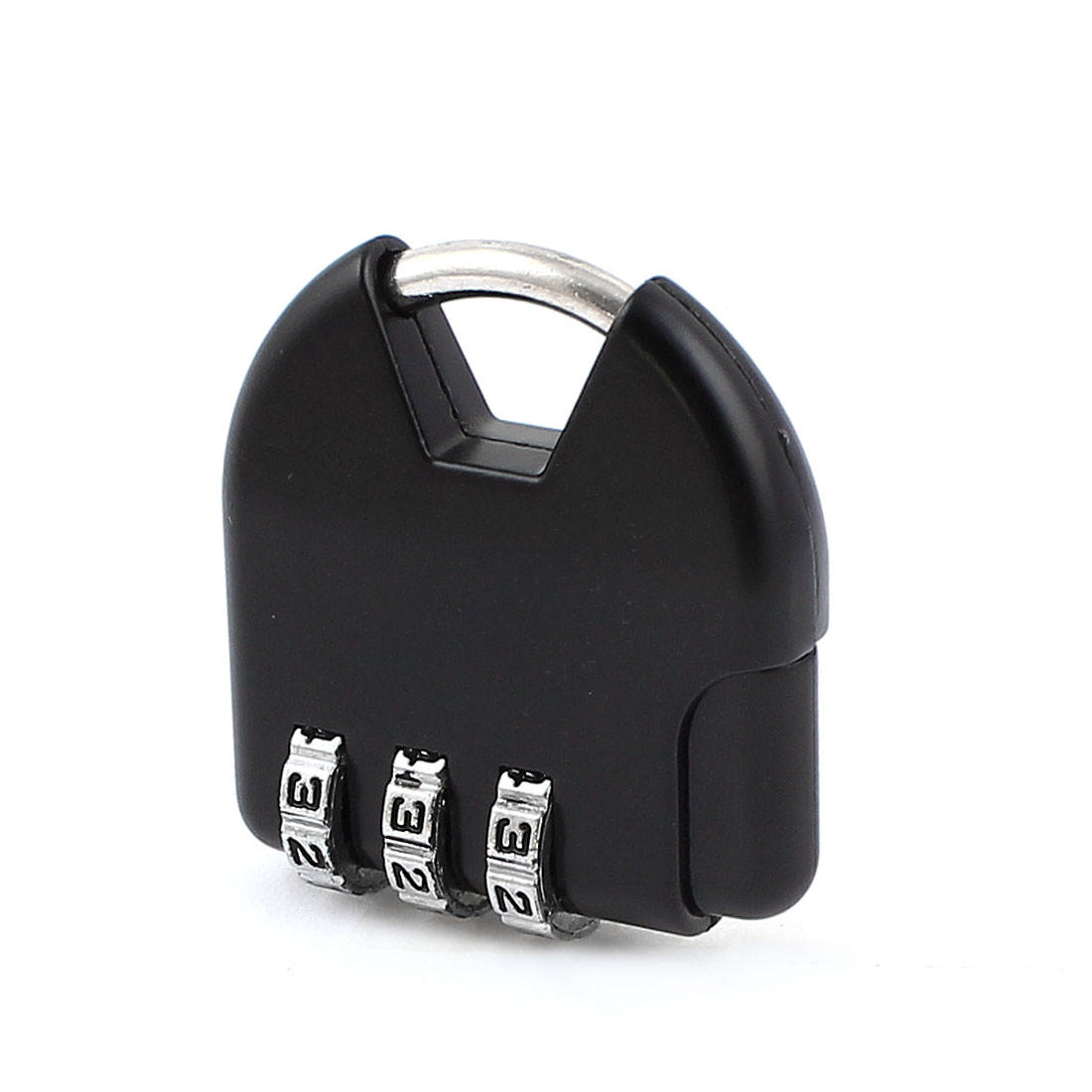 Suitcase Resettable 3 Digits Combination Password Safety Padlock Black
