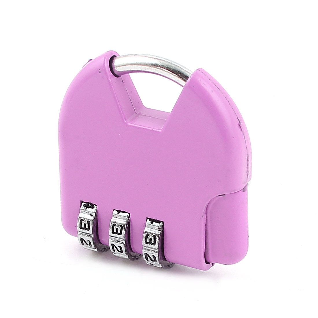 Travel Suitcase Resettable 3 Digits Combination Password Safety Padlock Pink