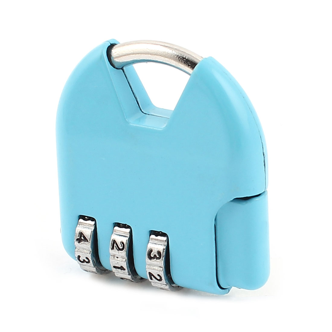 Blue 3 Dial Digitals Password Combination Luggage Safety Padlock Lock