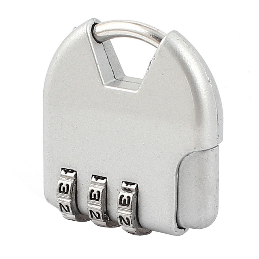 Silver Tone 3 Dial Digitals Password Combination Luggage Safety Padlock Lock