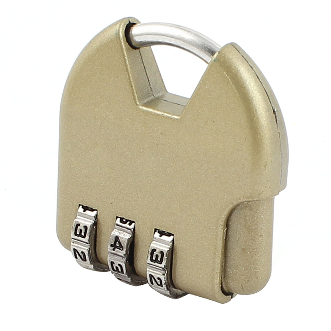 Luggage 3 Dial Digitals Password Combination Safety Padlock Lock Bronze Tone