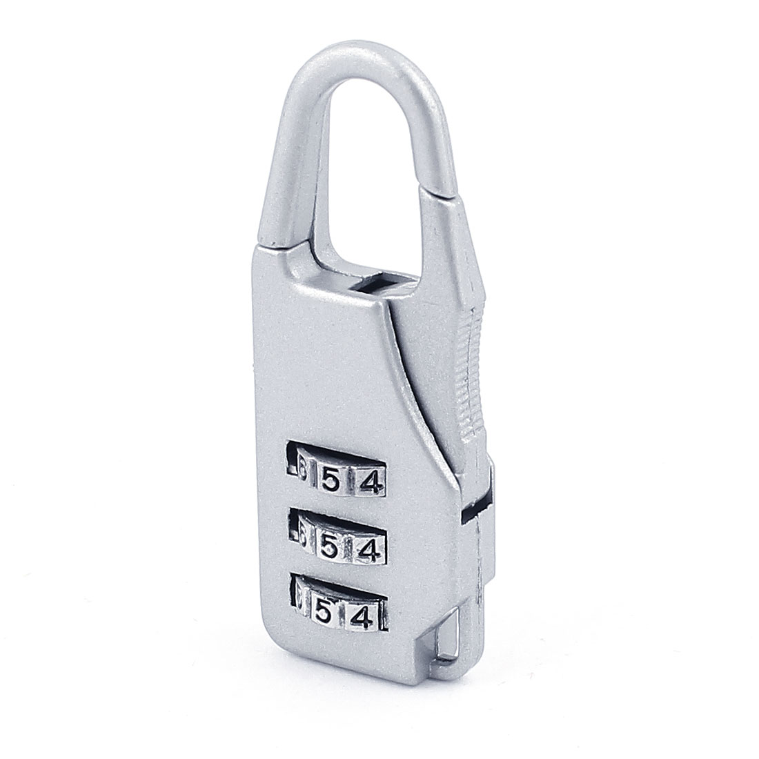 Baggage 3 Digits Security Combination Dial Lock Password Padlock Silver Tone