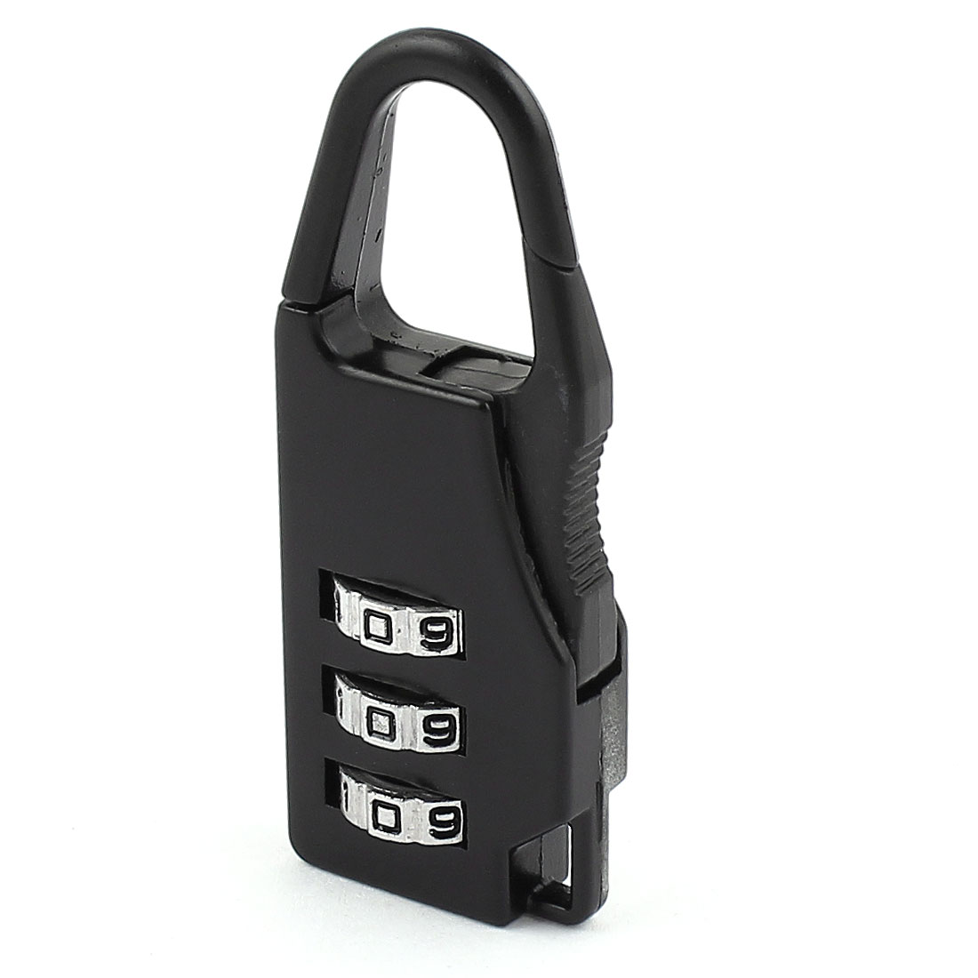 Baggage Packsack 3 Digits Security Combination Dial Lock Password Padlock Black