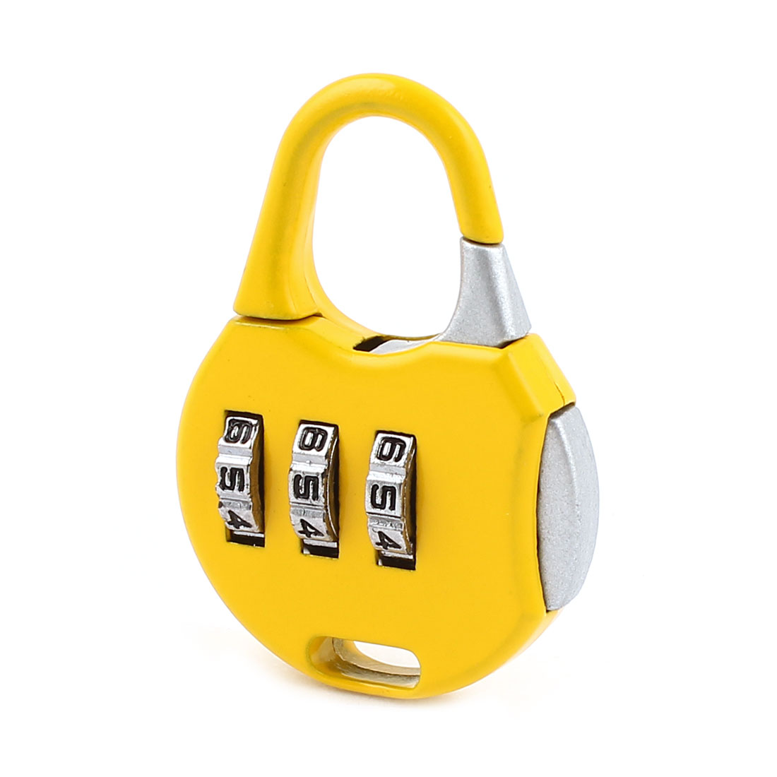 Yellow 3 Digits Security Password Combination Coded Travel Luggage Padlock