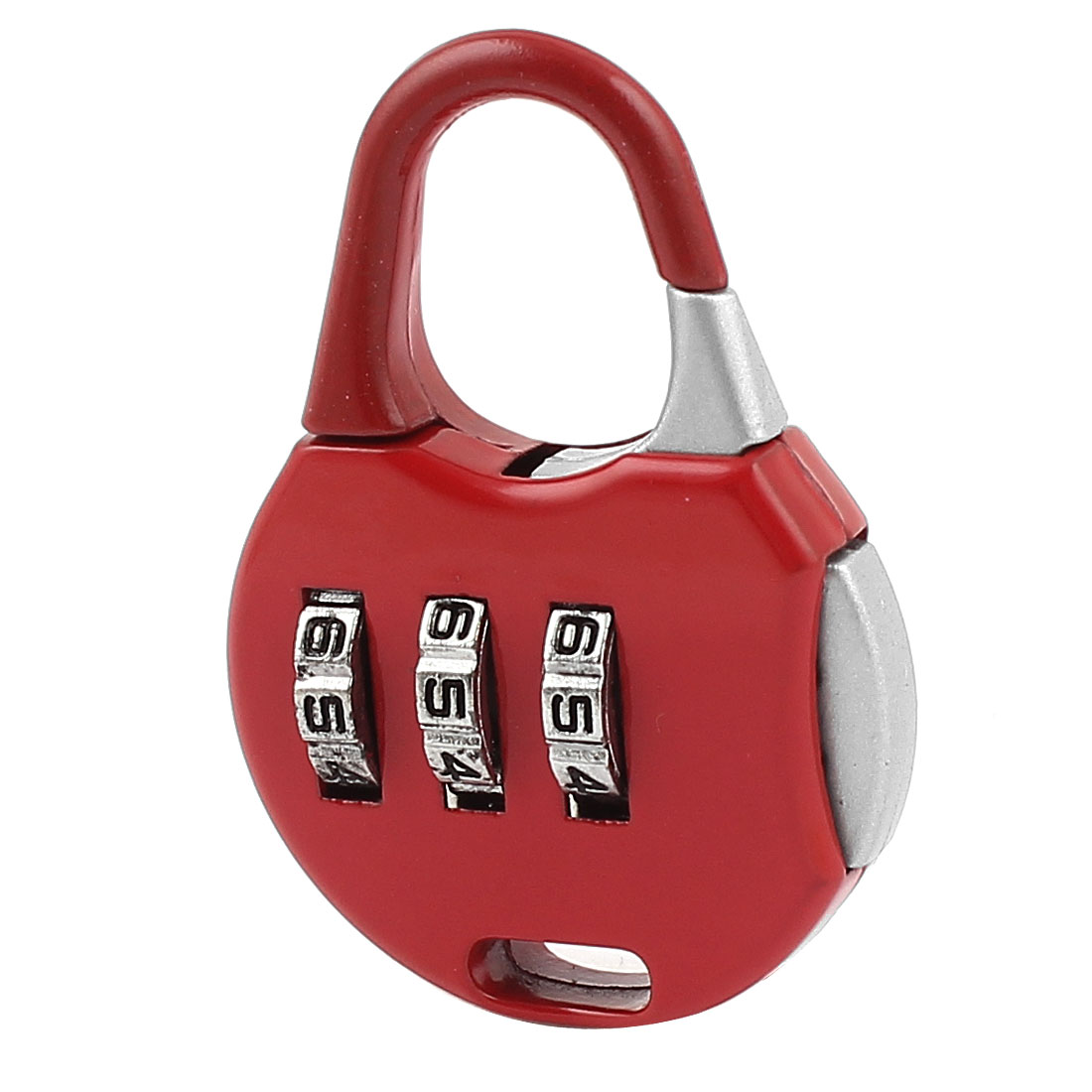 Red 3 Digits Security Password Combination Coded Travel Luggage Padlock