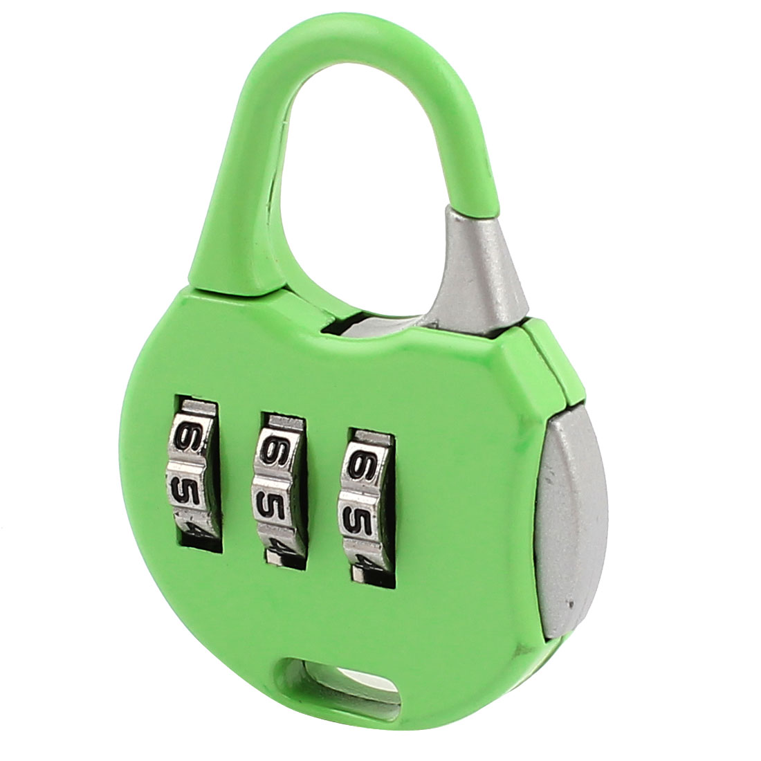 Green 3 Digits Security Password Combination Coded Luggage Padlock Lock