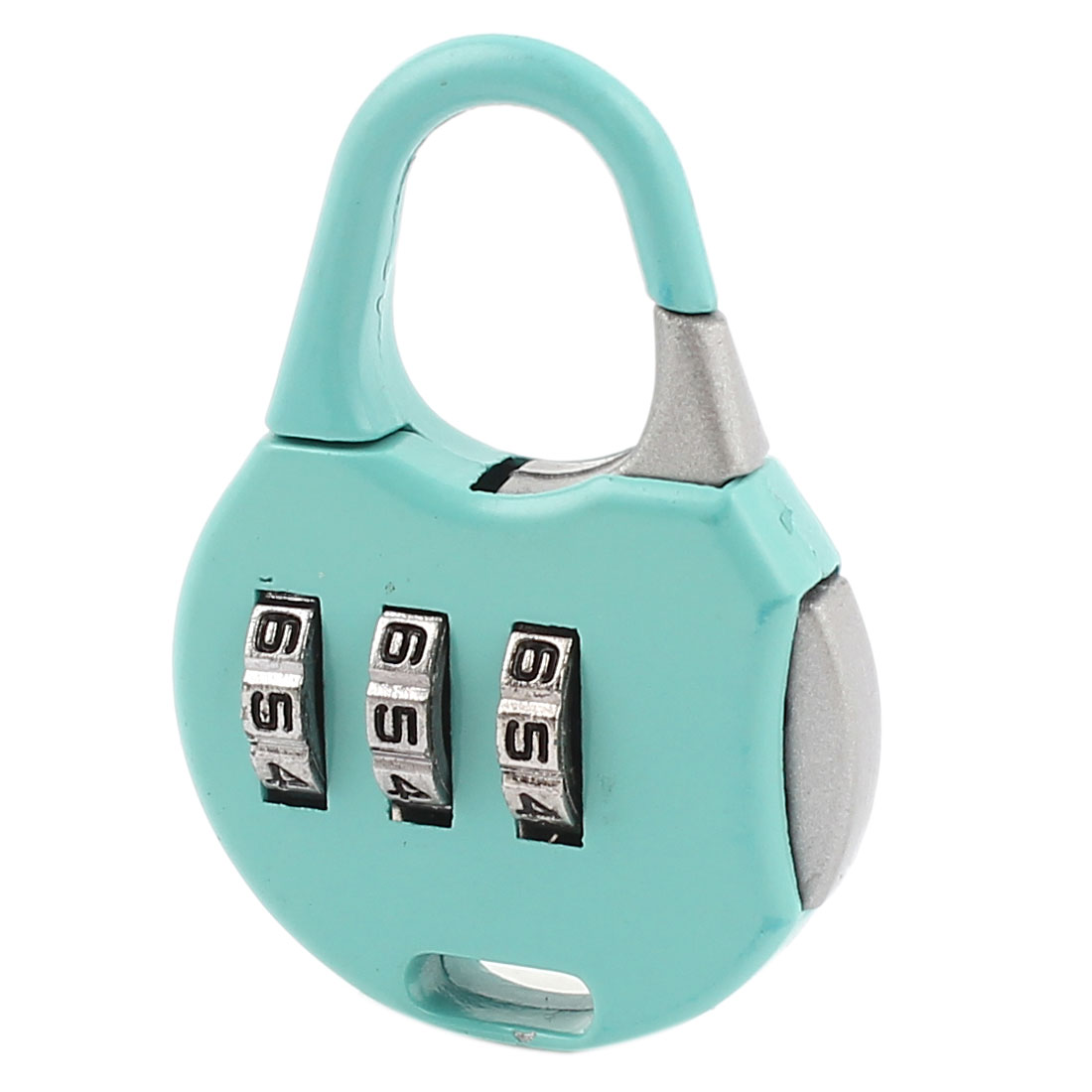 Cyan 3 Digits Security Password Combination Coded Luggage Padlock Lock