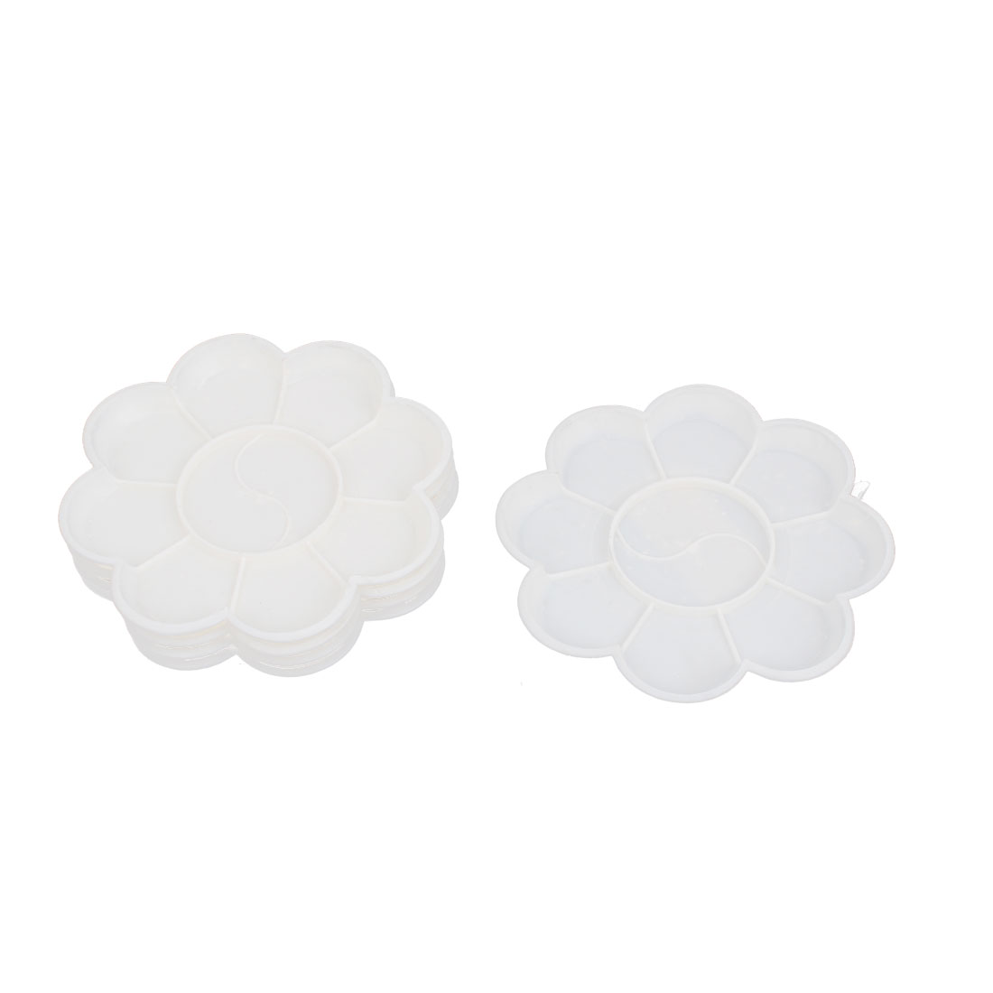 Petal Shaped 12cm Dia 10 Compartments Watercolor Paint Tray Mixing Palette