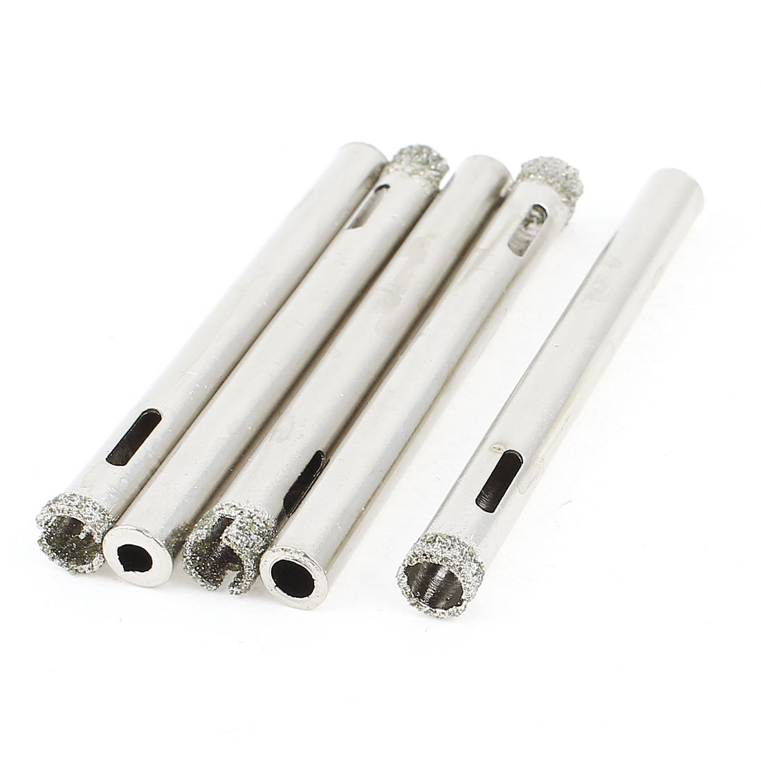 5 x Metal Shank 6mm Dia Diamond Hole Saw Drilled Cutter for Glass Tile