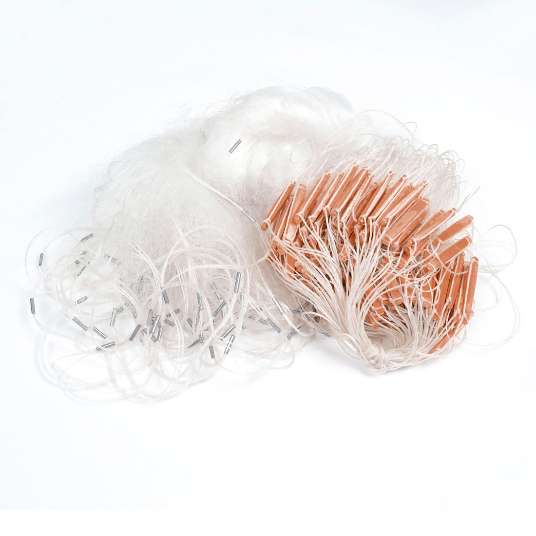 60M x 1.2M White Knotted Mesh Fishing Fish Gill Net for Fisherman