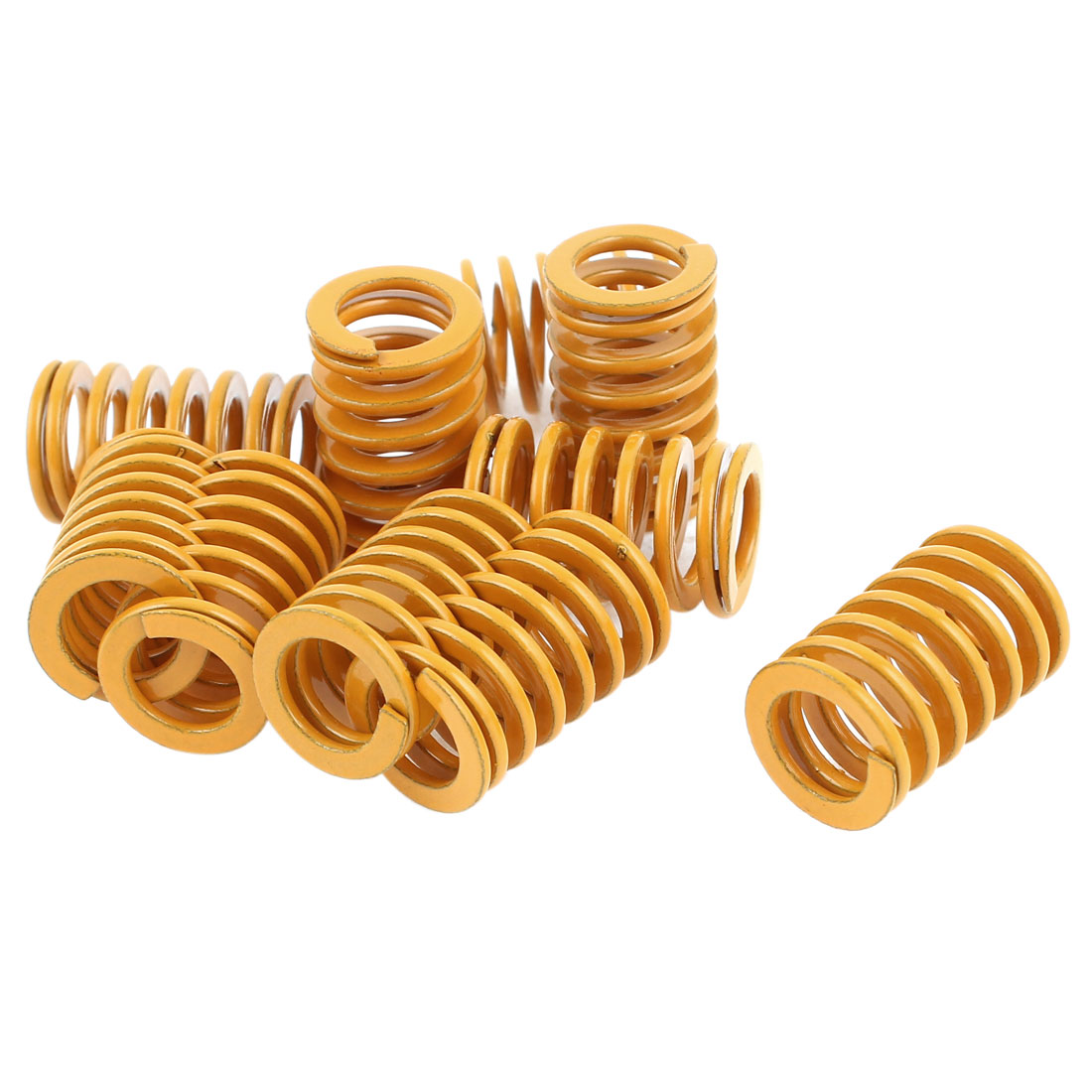 14mm x 9mm x 21mm Tubular Section Mold Mould Die Spring Yellow 10 Pcs