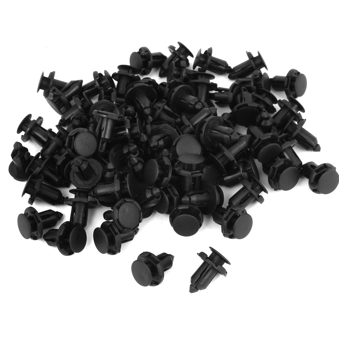 100 Pcs Plastic Push Type Fastener Rivets Fender Clips for 9mm x 15mm Hole