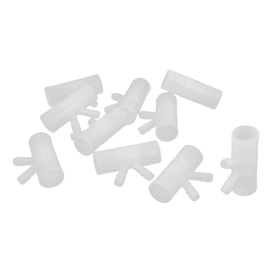 10pcs White Plastic 3 Way Fount Feeder Drinker Connector for Pet Rabbit Hare