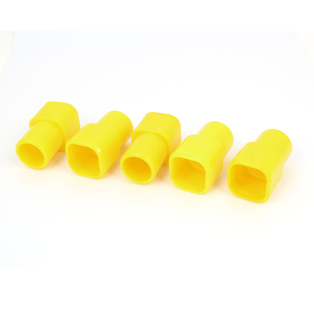 5pcs Yellow Plastic Square Pipe Inner 23mm to Round 20mm Connector for Poultry Chicken Rabbit