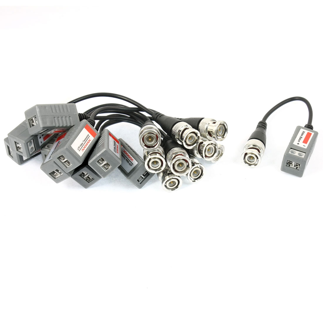 5Pairs BNC Male CCTV Camera Via Twisted UTP CAT5 Video Balun Transceiver