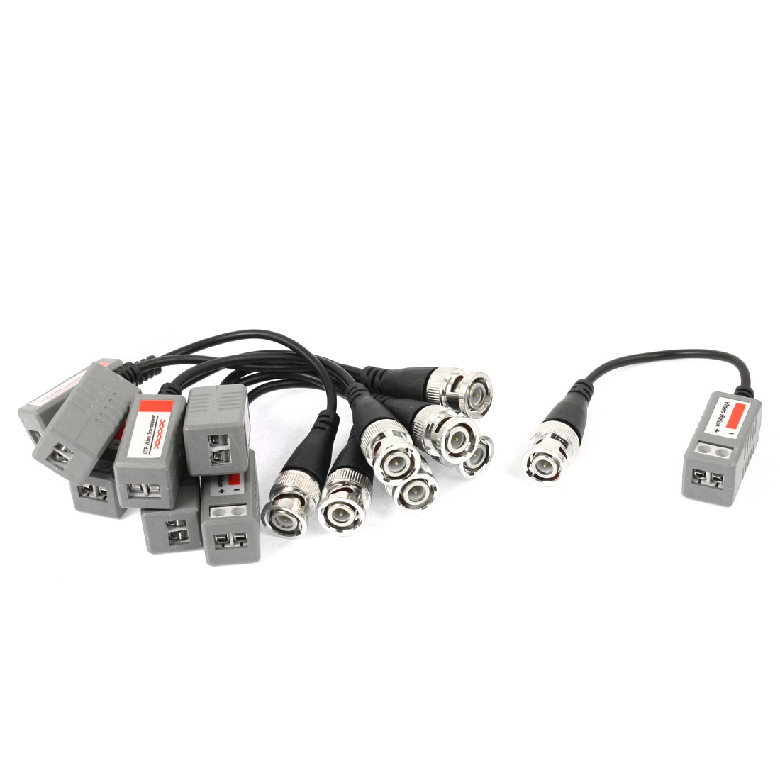 4Pairs BNC Male CCTV Camera Via Twisted UTP CAT5 Video Balun Transceiver