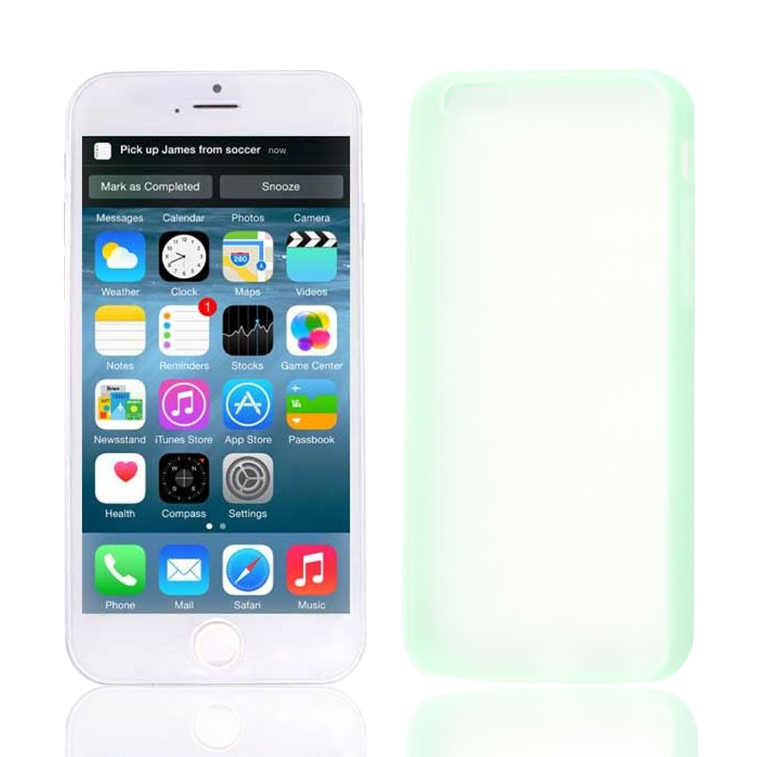 """Green TPU Frame Clear Scrub Hard Back Cover Case Protector for Apple iPhone 6G 4.7"""""""