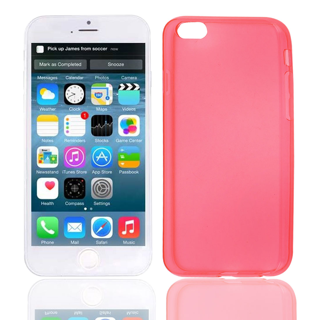 Clear Red Guard Shell Cover Case for Apple iPhone 6 6G 6th 4.7""