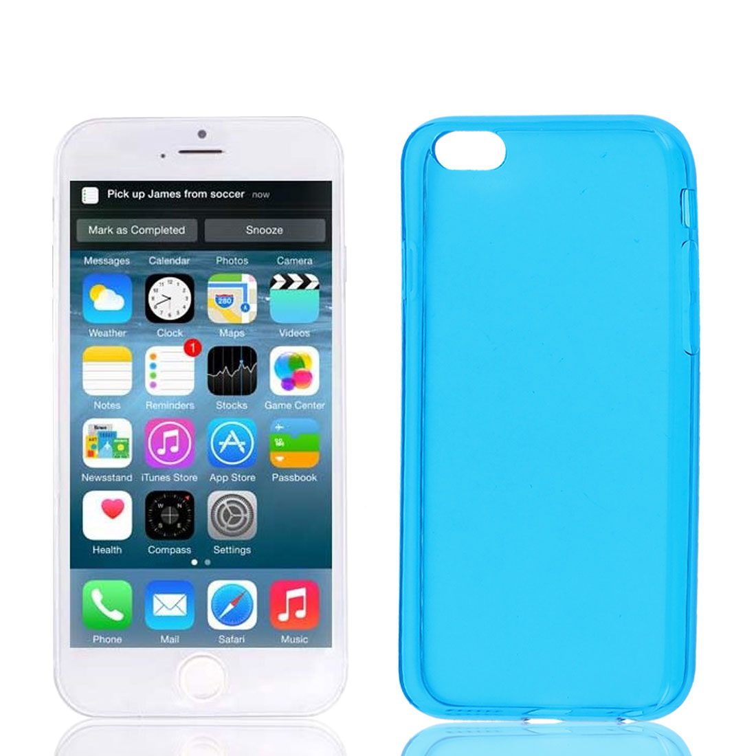 Clear Blue Soft Plastic Case Cover Protector for Apple iPhone 6 6th 4.7""