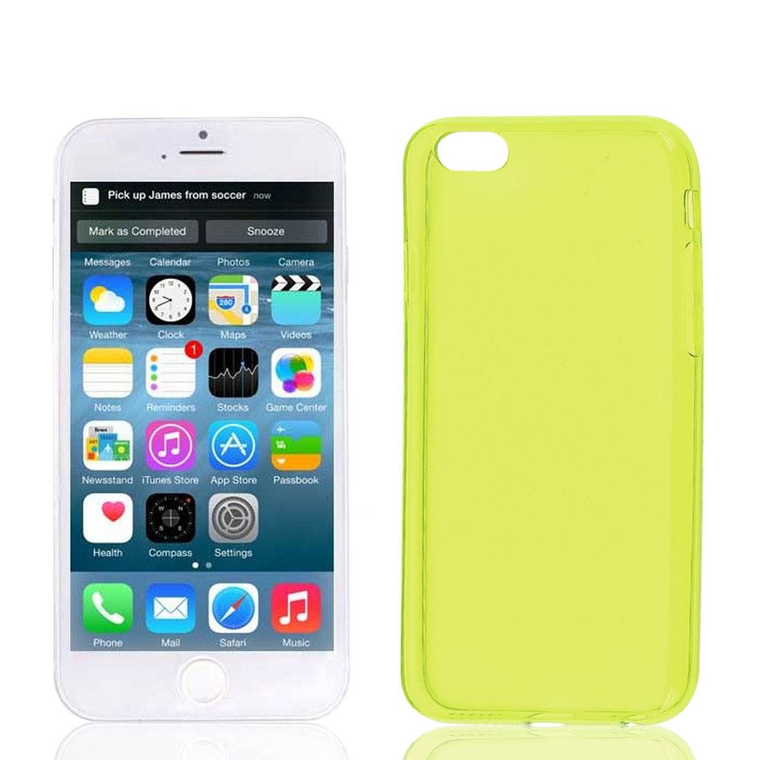 Clear Yellow Soft Plastic Case Cover Protector for Apple iPhone 6 6G 4.7""