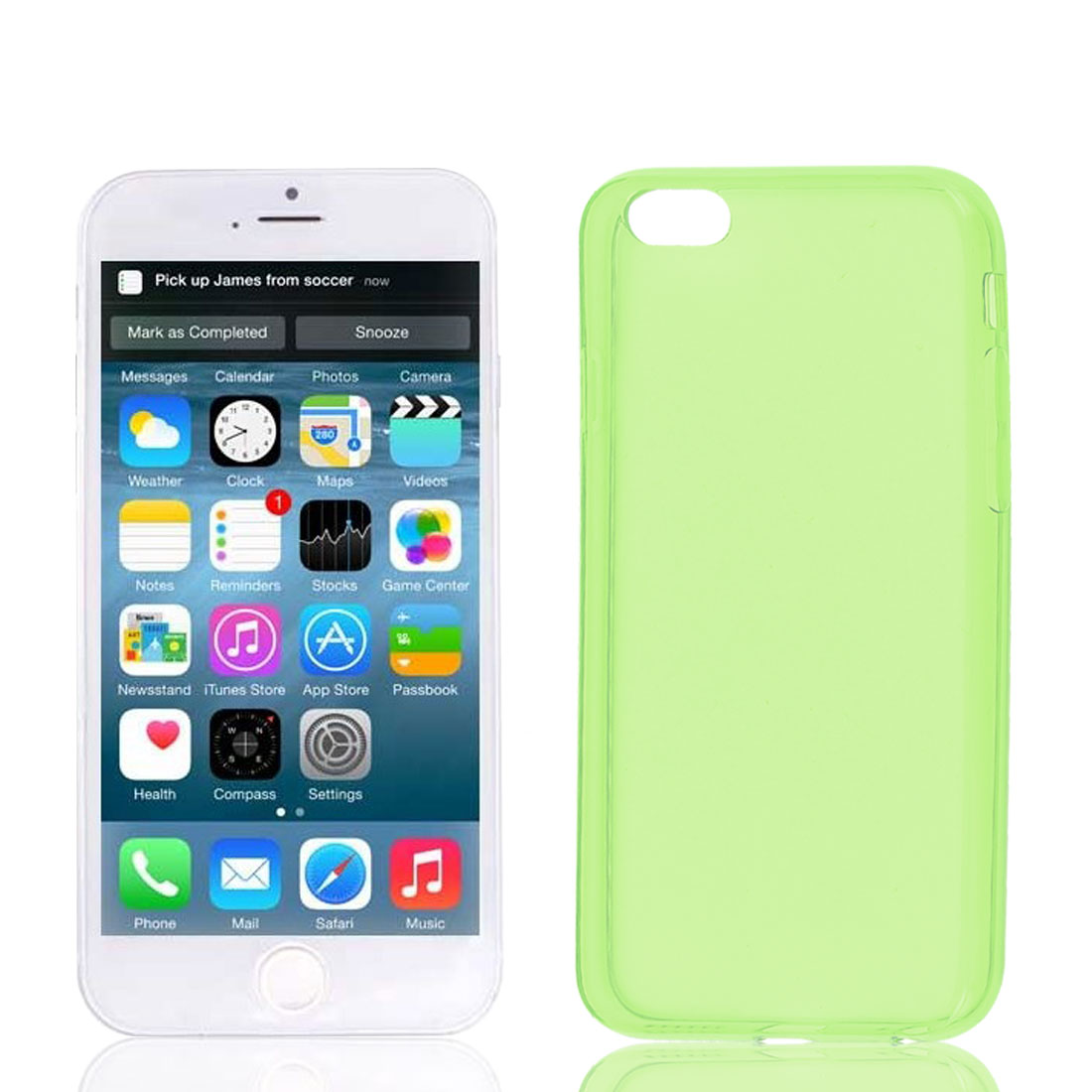 Clear Yellow Green Soft Plastic Case Cover Protector for Apple iPhone 6 6G 4.7""