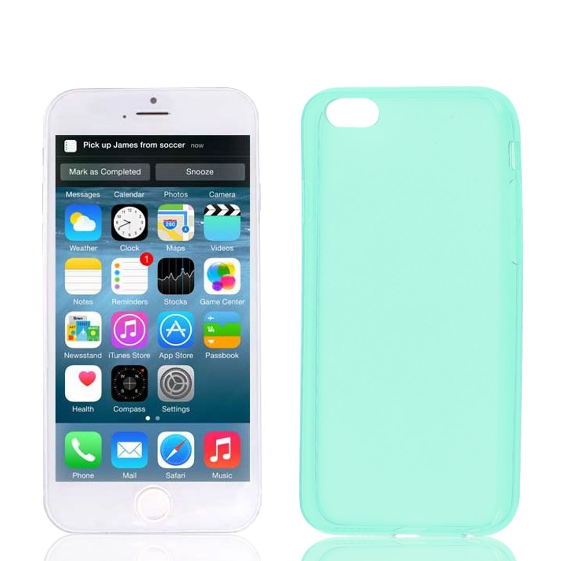 Clear Green Soft Plastic Case Cover Protector for Apple iPhone 6 6G 4.7""