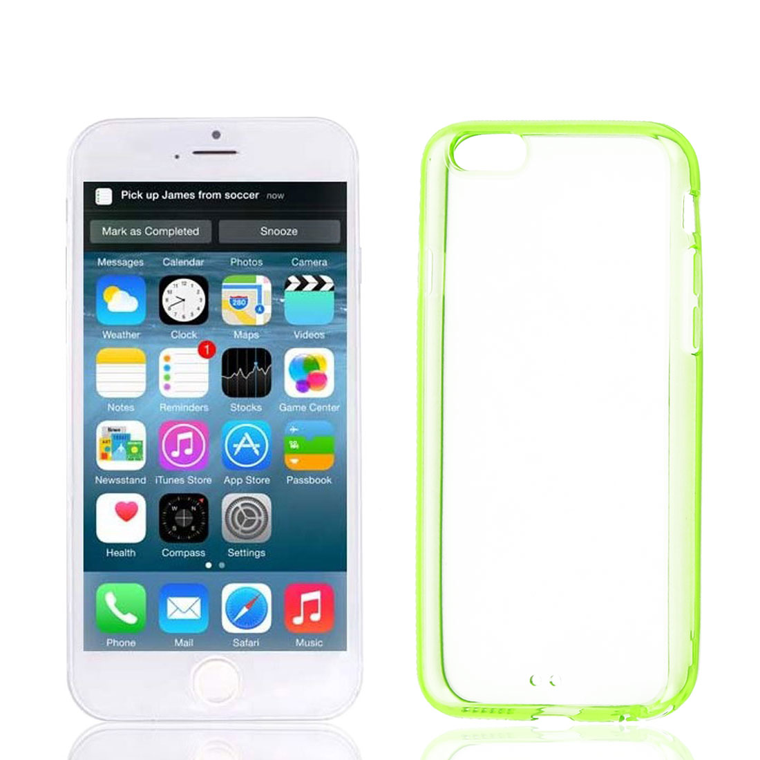 Clear Green Soft Cover Case Protector for Apple iPhone 6 6th 4.7""