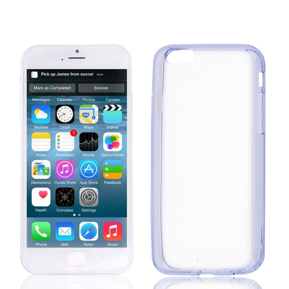 Clear Purple Hard Back Acrylic Cover Case Protector for Apple iPhone 6 6th 4.7""