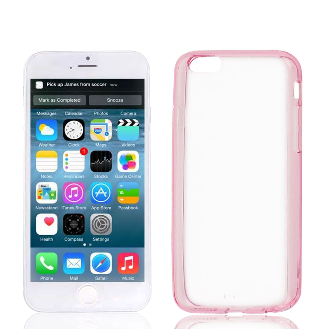 Clear Pink Hard Back Acrylic Cover Case Protector for Apple iPhone 6 6th 4.7""