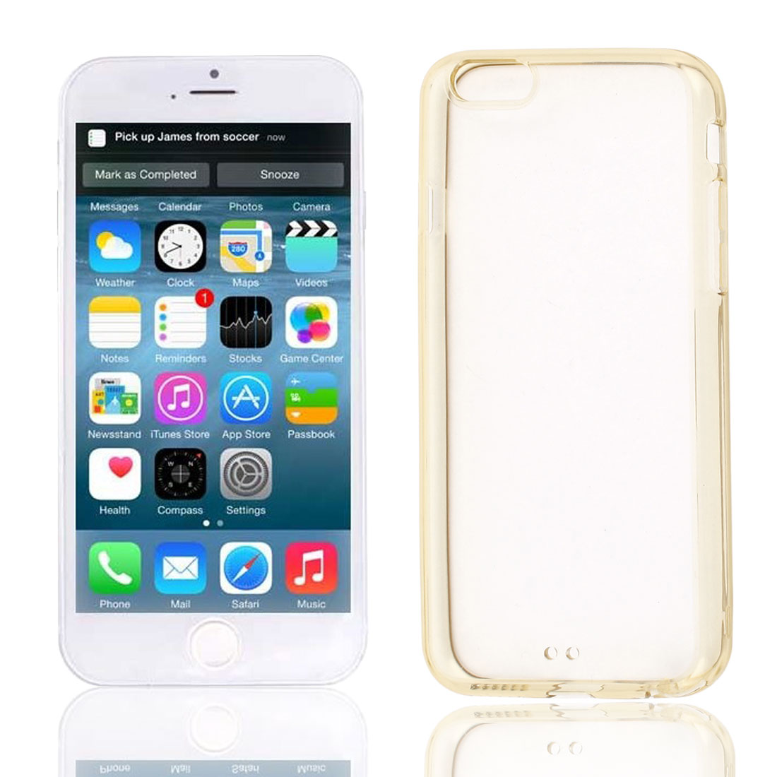 Clear Brown Hard Back Acrylic Cover Case Protector for Apple iPhone 6 6th 4.7""