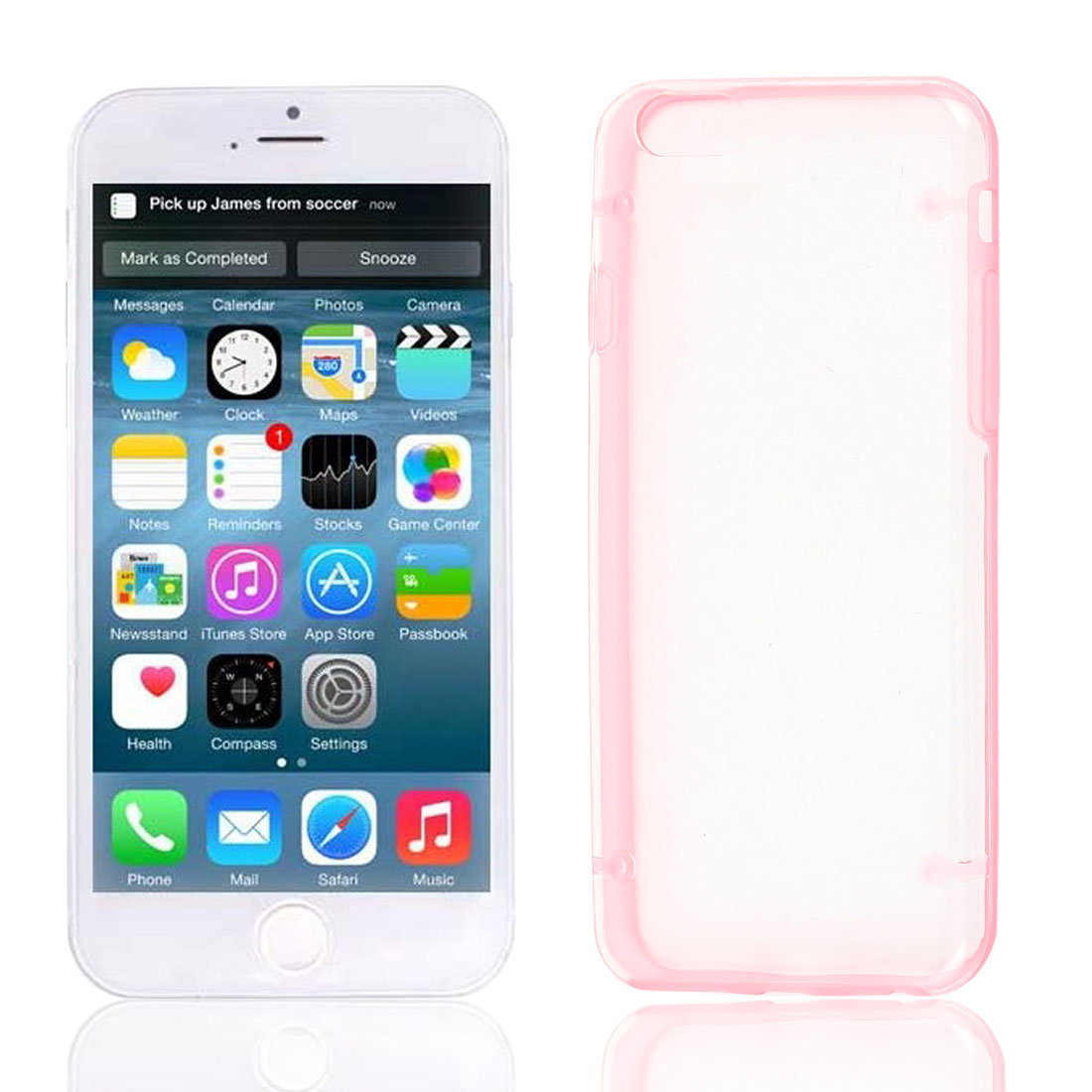 Clear Back Hard Plastic Glow in Dark Case Cover Pink Protector for Apple iPhone 6 4.7""