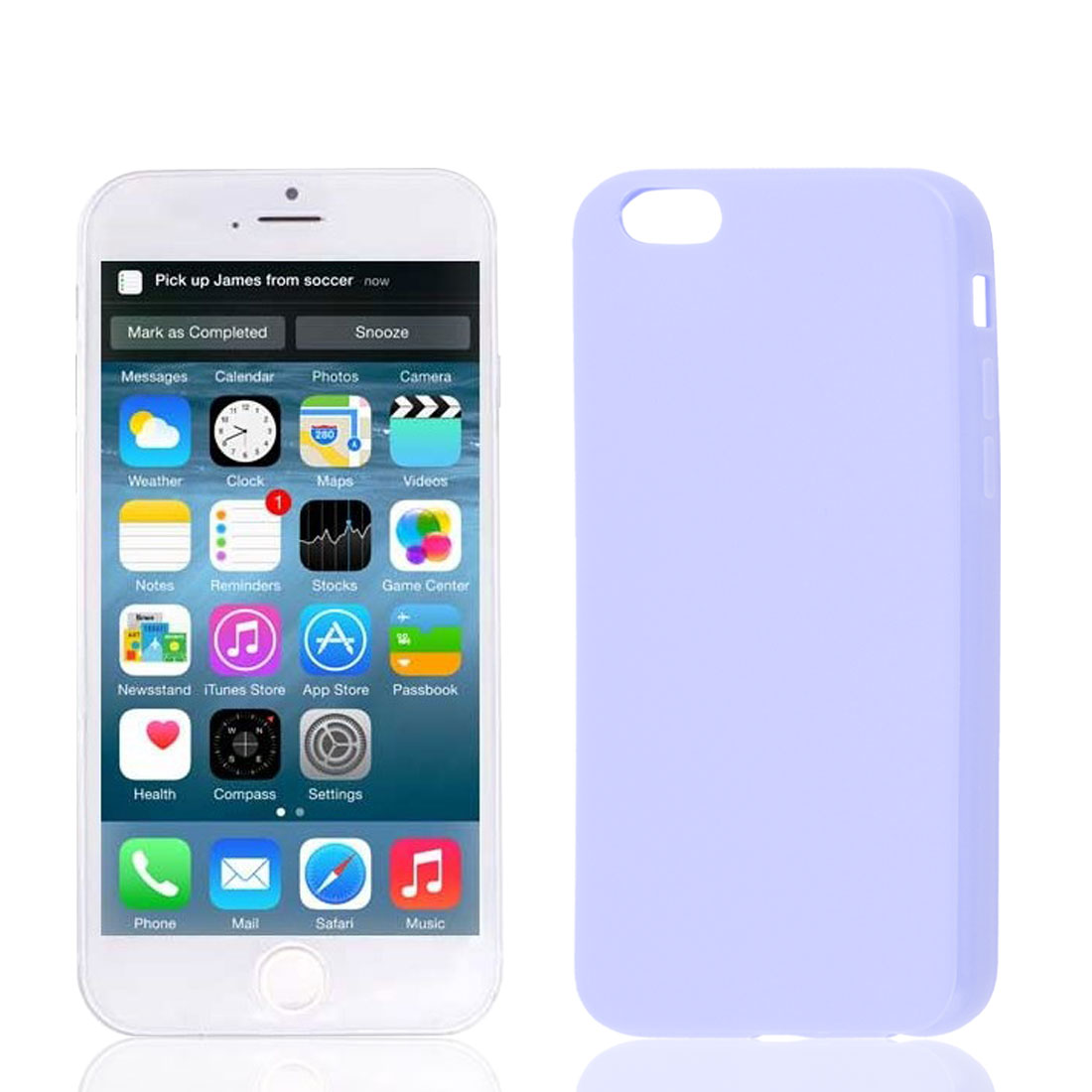 Light Purple Soft Plastic Smooth Case Cover for Apple iPhone 6 6G 6th 4.7""