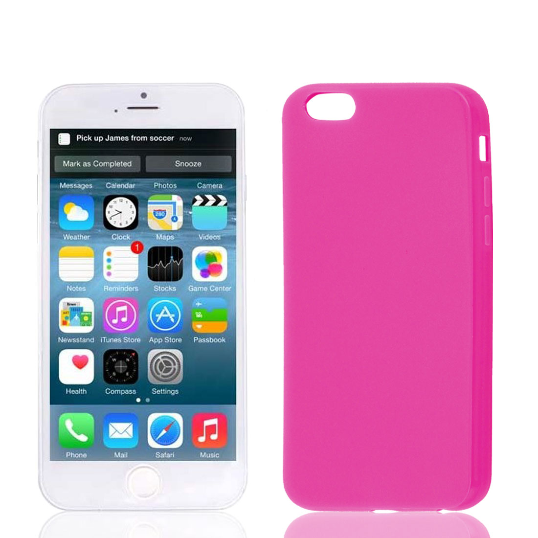 Fuchsia Soft Plastic Smooth Case Cover Protector for Apple iPhone 6 6th 4.7""