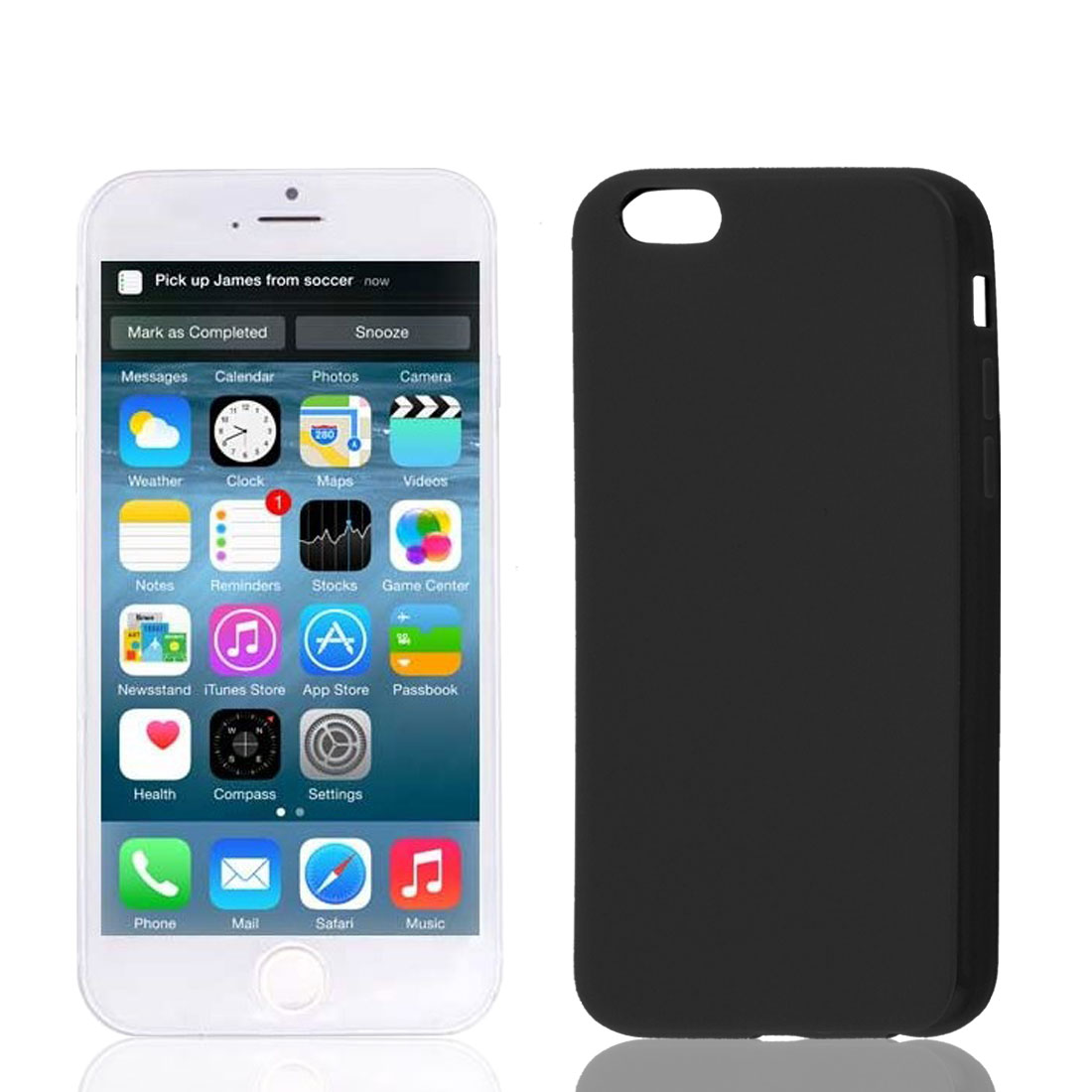 Black Soft Plastic Case Cover Protector for Apple iPhone 6 6th 4.7""