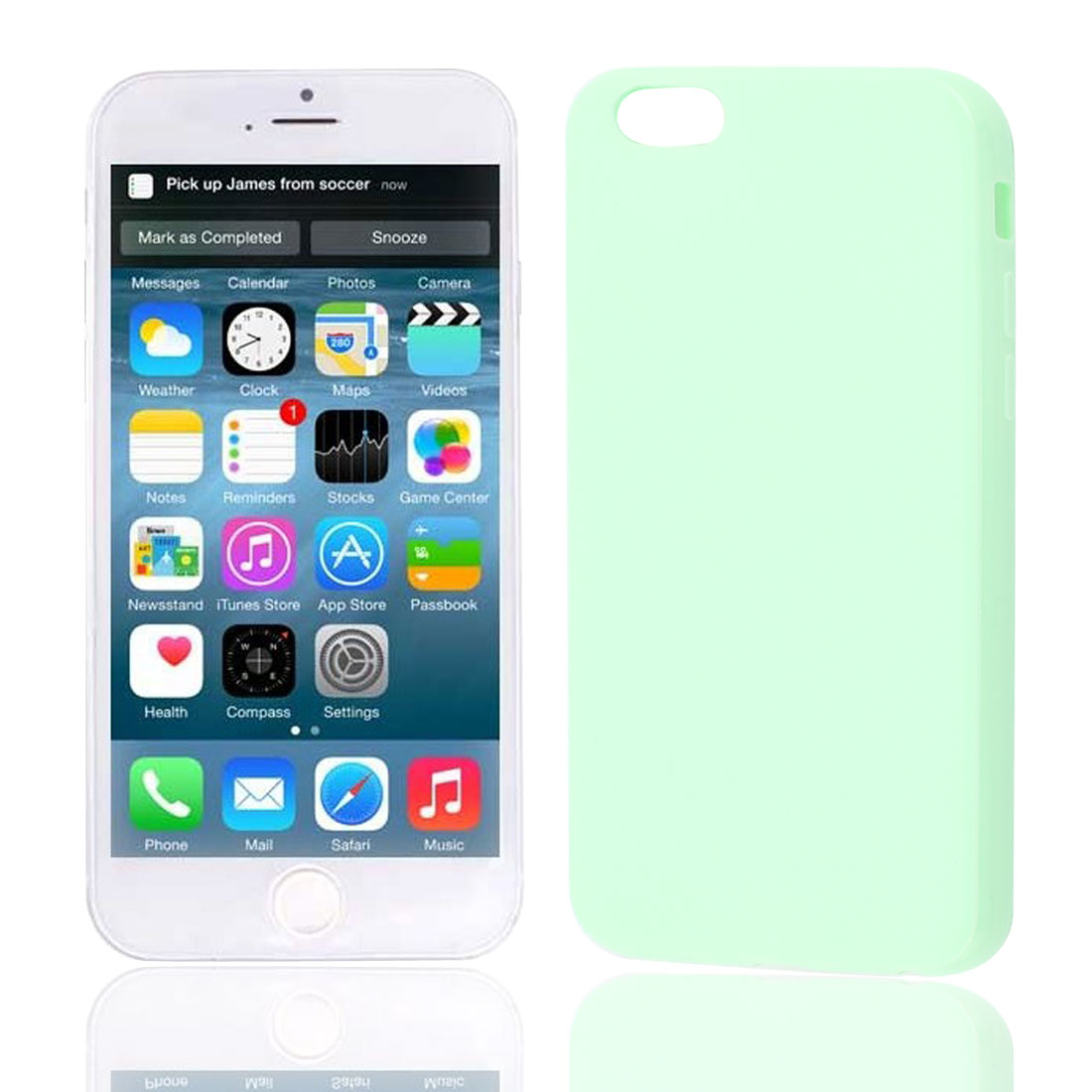 Light Green Soft Plastic Smooth Case Cover for Apple iPhone 6 6G 6th Gen 4.7""