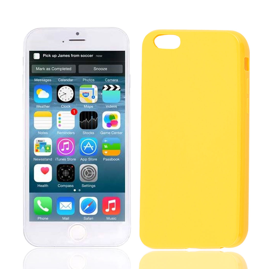 Soft Plastic Smooth Case Cover Yellow for Apple iPhone 6 6G 6th 4.7""